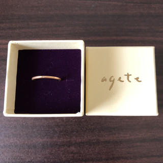 アガット(agete)のageteピンキーリング(リング(指輪))