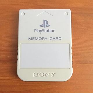 プレイステーション(PlayStation)のソニー純正 プレイステーション 専用 メモリーカード オフホワイト 日本製 中古(その他)