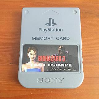 プレイステーション(PlayStation)のソニー純正 プレイステーション 専用 メモリーカード グレー 日本製 中古(その他)