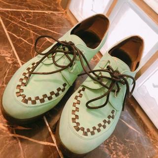 ジエンポリアム(THE EMPORIUM)のミントグリーン ラバーソール(ローファー/革靴)