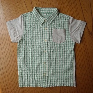 ムジルシリョウヒン(MUJI (無印良品))の無印良品〈良品〉チェック切り替えシャツ(ブラウス)