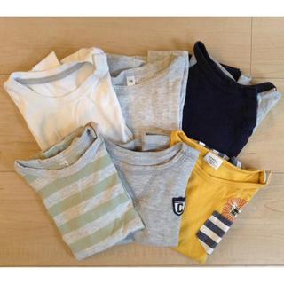 ムジルシリョウヒン(MUJI (無印良品))の男の子 90サイズTシャツ6枚セット(Tシャツ/カットソー)