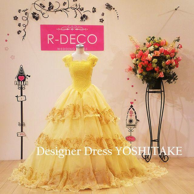 ウエディングドレス(パニエ無料サービス) 美女と野獣のベルドレスバージョン レディースのフォーマル/ドレス(ウェディングドレス)の商品写真
