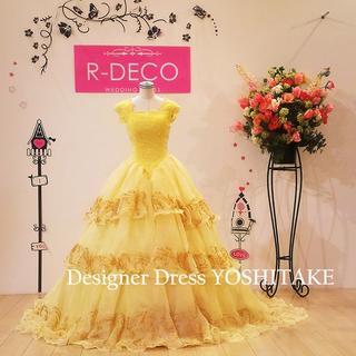 ウエディングドレス(パニエ無料サービス) 美女と野獣のベルドレスバージョン(ウェディングドレス)