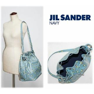 ジルサンダー(Jil Sander)の87,480円新品◆【 ジルサンダーネイビー】本革 巾着ショルダーバッグ(ショルダーバッグ)