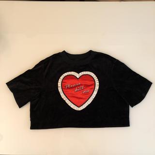 ジーヴィジーヴィ(G.V.G.V.)のgvgv ハート ベロア トップス(Tシャツ(半袖/袖なし))