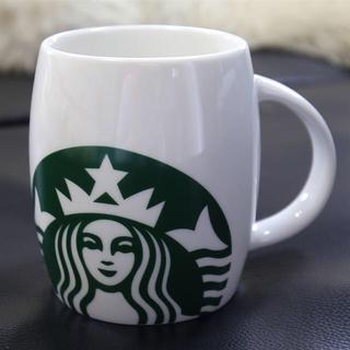 スターバックスコーヒー(Starbucks Coffee)の新品★スターバックス★大きめマグカップ 樽型 グランデサイズ弱 2011年製 白(食器)