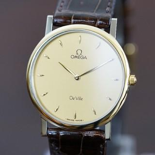 オメガ(OMEGA)の美品 オメガ デビル 18Kゴールドベゼル コンビ メンズ Omega(腕時計(アナログ))