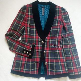 アウラアイラ(AULA AILA)のアウラアイラ タータンチェック ジャケット トラッド タキシード風 芸能人着用(テーラードジャケット)
