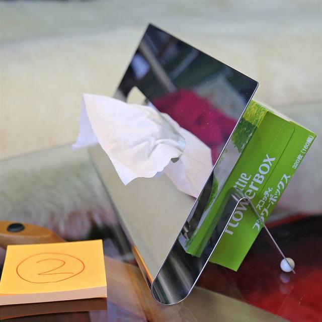 I'mD (アイムディ) ティッシュスタンド TAOG タオ ステンレス ② インテリア/住まい/日用品のインテリア小物(ティッシュボックス)の商品写真