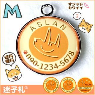 犬 ペット 迷子札(オレンジ)M(犬)