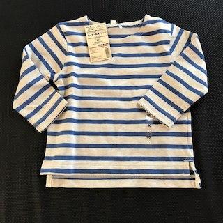 ムジルシリョウヒン(MUJI (無印良品))の無印 ボーダーロンティー(Tシャツ/カットソー)