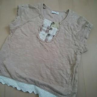 ビケット(Biquette)の110☆ビケット 半袖ニット 薄ブラウン(Tシャツ/カットソー)
