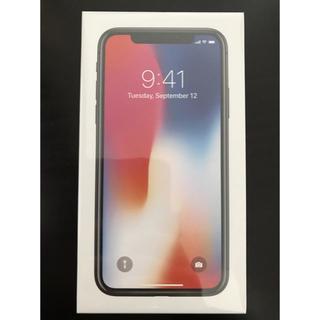アイフォーン(iPhone)の新品未使用品★iPhoneX 64GB 黒 〇判定 SIMロック解除済★即納(スマートフォン本体)