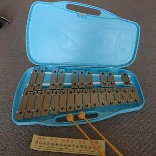 【美品】鉄琴(グロッケン) 25音(鉄琴)
