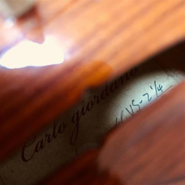 【極上美虎杢】カルロジョルダーノ VS-2 1/4 2006 バイオリン 楽器の弦楽器(ヴァイオリン)の商品写真