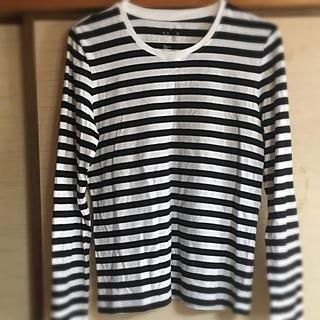 ムジルシリョウヒン(MUJI (無印良品))のボーダー  Tシャツ(Tシャツ(長袖/七分))