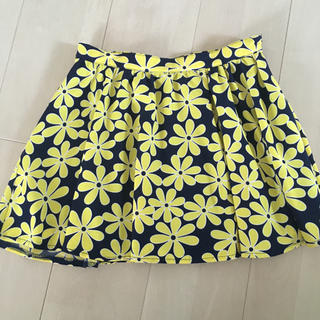 イングファースト(INGNI First)の美品 イングファースト スカート 150 花柄 イエロー(スカート)