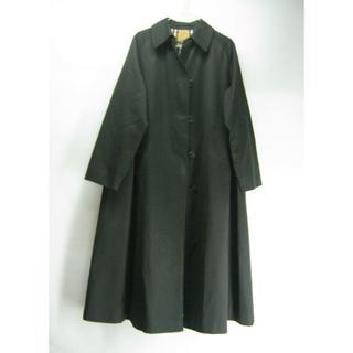 バーバリー(BURBERRY)の英国製・バーバリー・レディス・ステンカラーコート・黒色(#LSTEN-64)(ロングコート)