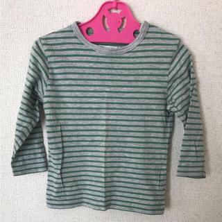 ムジルシリョウヒン(MUJI (無印良品))のボーダー 長袖カットソー 90㎝(Tシャツ/カットソー)