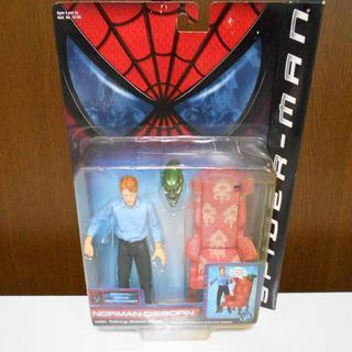 マーベル(MARVEL)のスパイダーマン フィギュア シリーズ1ノーマンオズボーン2001年TOY.BIZ(特撮)