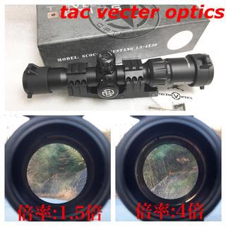 実物 マウントリング VECTOR OPTICS 1.5-4 ライフル スナイパ(レンズ(単焦点))