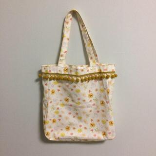 キノ(KINO)のkino eco bag スワン かくれんぼ柄  トートバッグ(トートバッグ)