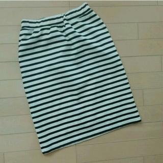 ハニーズ(HONEYS)のボーダースカート♪(ひざ丈スカート)