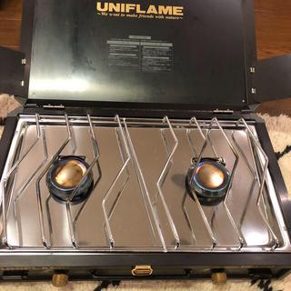 ユニフレーム(UNIFLAME)のユニフレーム ツインバーナー US-1900 ブラック (ストーブ/コンロ)