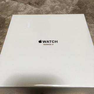 アップルウォッチ(Apple Watch)のApple Watch series 3 セルラー 42mm ステンレス 未開封(スマートフォン本体)