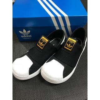 アディダス(adidas)のアディダス  スーパースタースリッポン  メッシュ ベビーサイズ(スリッポン)