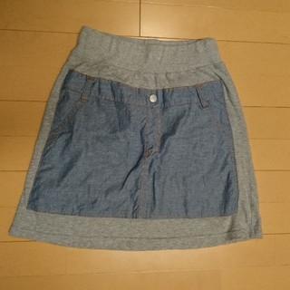 パーティチケット(PARTY TICKET)の【美品】PARTY TICKET 150 シャンブレー スウェット スカート(スカート)