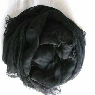 ムジルシリョウヒン(MUJI (無印良品))の美品 無印良品大判モダールシルクストール(ストール/パシュミナ)