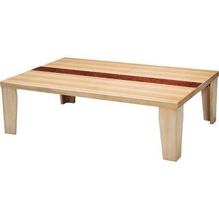 軽量リビングテーブル 105cm 人気のタモ!(ローテーブル)