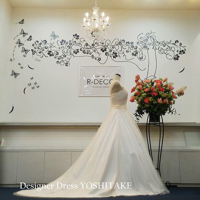 ウエディングドレス(無料パニエサービス) 披露宴 レストランウエディング レディースのフォーマル/ドレス(ウェディングドレス)の商品写真