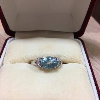 14k ラタナキリ産ブルージルコン&ダイヤモンド WGリング(リング(指輪))