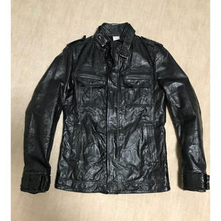 エービーエックス(abx)のabx ライダースジャケット 【超美品】M65 革ジャン(レザージャケット)