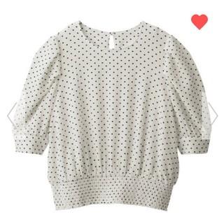 ジーユー(GU)のgu♡ドットプリントブラウス(シャツ/ブラウス(半袖/袖なし))
