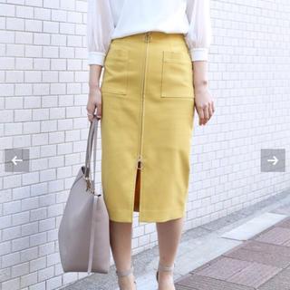 ノーブル(Noble)の新品タグ付 Noble T/C フープジップタイトスカート(ひざ丈スカート)