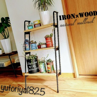 Original - 【ironwood//naturalwallrack》✰ラダーラック✰お洒落収納