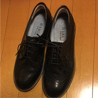 ハルタ(HARUTA)のハルタ ウィングチップシューズ ブラック 24.5cm(ローファー/革靴)