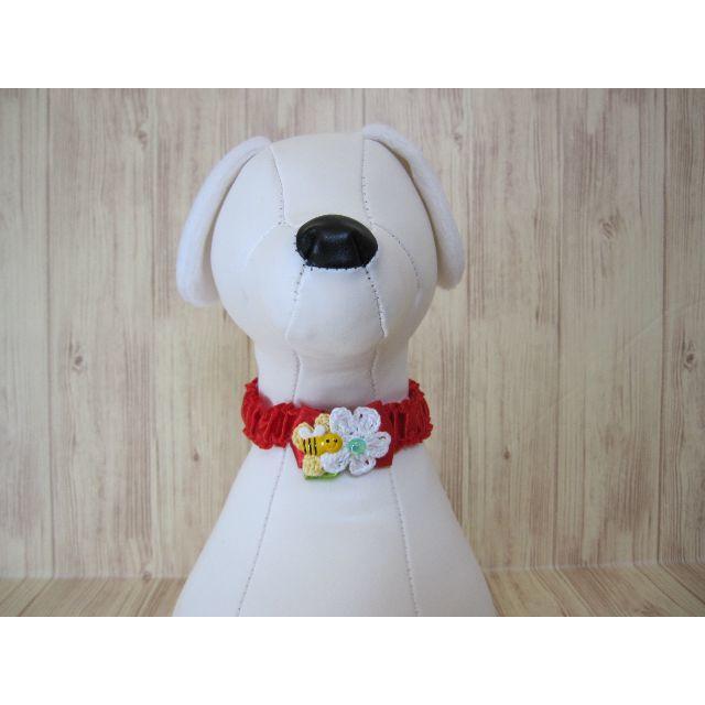 春✿みつばち 犬 トリミング シュシュネックレス 【Mサイズ】女の子カラー5本 ハンドメイドのペット(ペット服/アクセサリー)の商品写真
