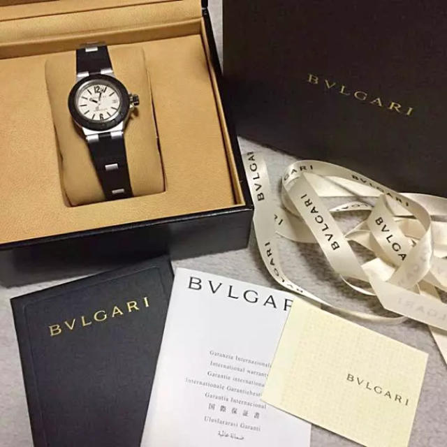 new style c1100 2a427 BVLGARI ブルガリ 時計 アルミニウム 腕時計 ボーイズ AL29TA | フリマアプリ ラクマ