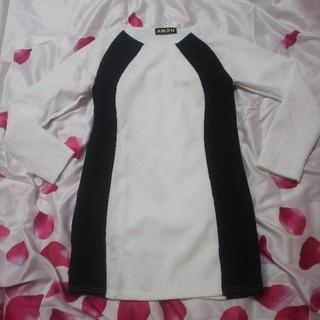 アンズ(ANZU)のANZU♡新品未使用♡バイカラー総レースワンピース♡ドレス(ミニワンピース)