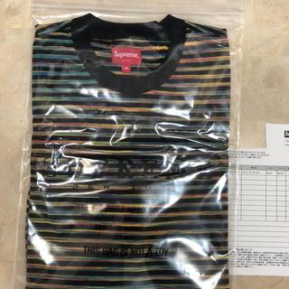 シュプリーム(Supreme)のsize M supreme 18ss static stripe top(Tシャツ/カットソー(半袖/袖なし))