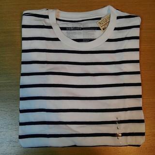 ムジルシリョウヒン(MUJI (無印良品))の無印良品 オーガニックコットン 細ボーダー半袖Tシャツボーダー 紳士L→婦人XL(Tシャツ/カットソー(半袖/袖なし))