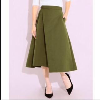 デミルクスビームス(Demi-Luxe BEAMS)のDemi-Luxe BEAMS アシンメトリーフレアスカート(ひざ丈スカート)