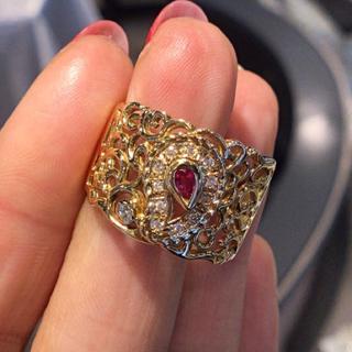 18金ルビー&ダイヤモンド・リング(リング(指輪))