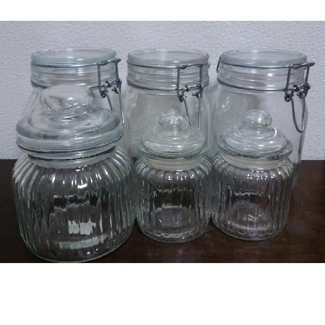 MUJI (無印良品)(ムジルシリョウヒン)の無印良品 ガラス瓶(おまけ付) インテリア/住まい/日用品のキッチン/食器(容器)の商品写真