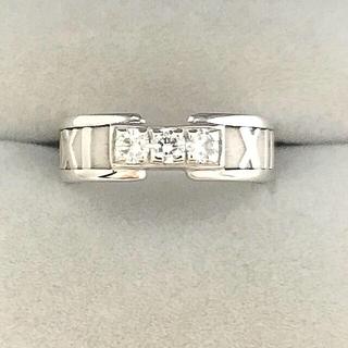ティファニー(Tiffany & Co.)の研磨済Tiffany&Co.K18WGティファニーアトラスダイヤ3P指輪6.5号(リング(指輪))